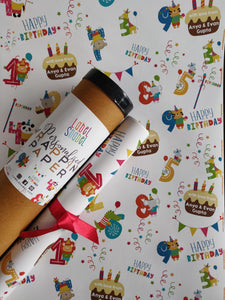 Personalised Wrapping Paper - Birthday Fun