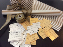 gold silver gift labels with wrapping paper