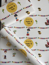 personalised wrapping paper rolls with pirate theme