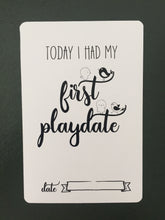 first playdate baby milestone card