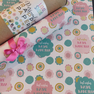 Personalised Wrapping Paper - Spring Flowers
