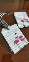 Ribbon Tags - Flamingo