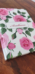Personalised Note Book - Roses