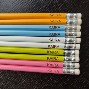 Pretty Pastel  - Personalised Pencils