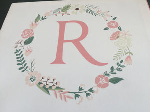 monogram  R with wreath