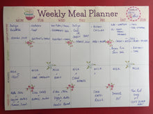 PLANNER SET - Weekly Meal Planner + Shopping List Pad + 6 Fridge Magnets
