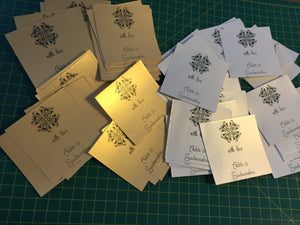 gold and silver matte gift labels