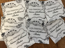 personalised silver paper gift labels