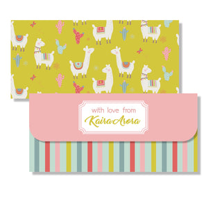 Money Envelopes for Kids - Llama