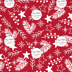 Personalised Wrapping Paper - Mistletoe