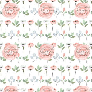 Personalised Wrapping Paper - Pastel Peonies