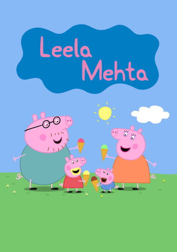 Personalised Note Book -  Peppa Pig