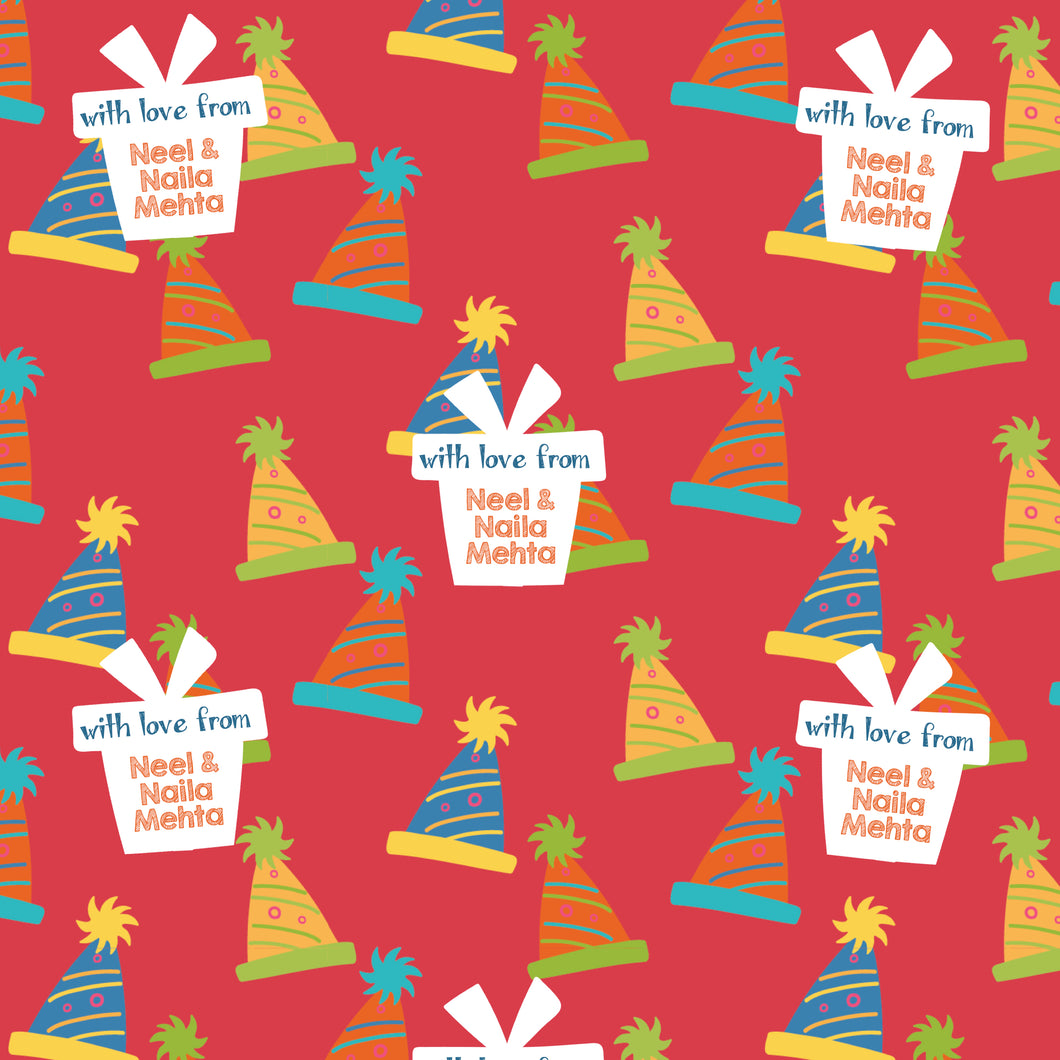 Personalised Wrapping Paper - Put Your Hat On