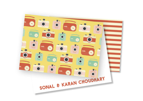 Personalised Folded Card - Retro