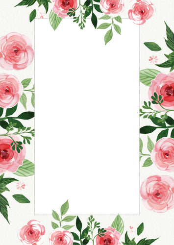 pretty pink roses note pad