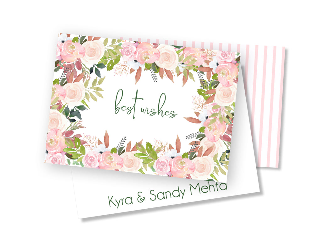 Personalised Folded Card - Say it with Flowers