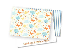 Personalised Folded Card - Spring Time