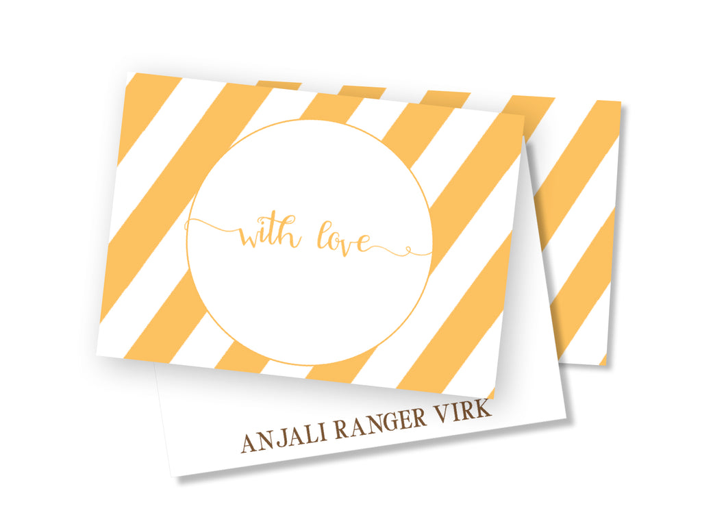 Personalised Folded Card - Stripes