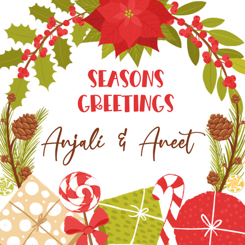 Gift Label - Seasons Greetings