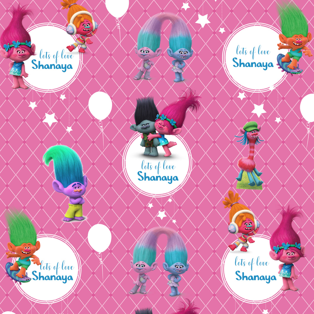 Personalised Wrapping Paper - Trolls