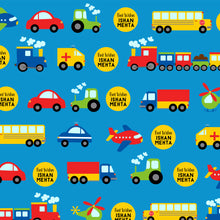 Personalised Wrapping Paper - Traffic Blues