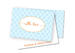 Personalised Folded Card - Trellis