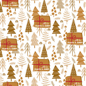 Personalised Wrapping Paper - Under The Tree
