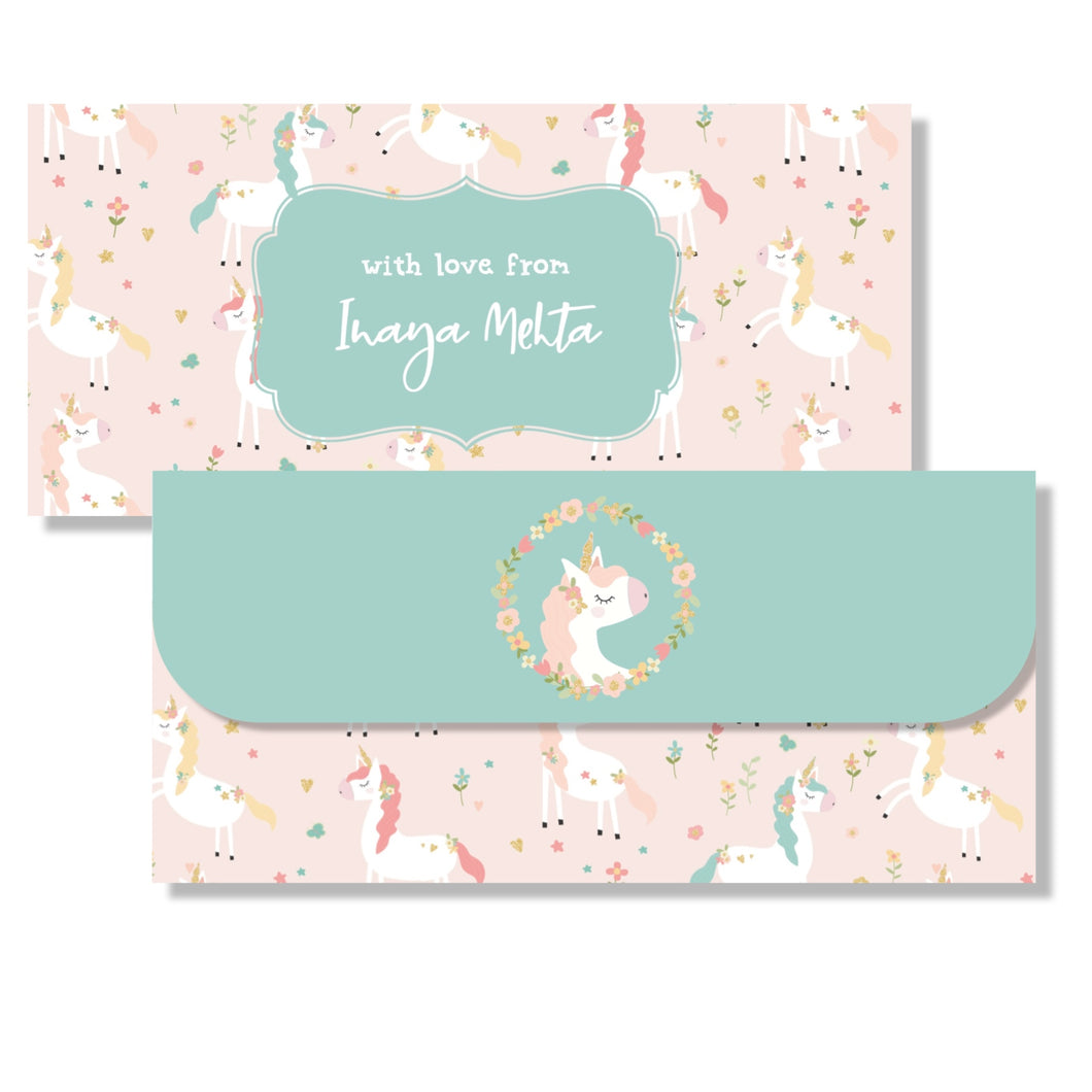Money Envelopes for Kids - Unicorn Magic