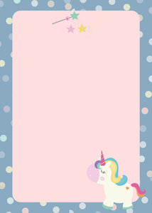 Note Pad - Unicorn Magic