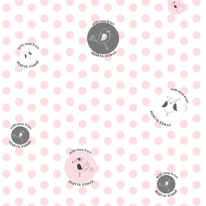 Personalised Wrapping Paper - Polka Pink