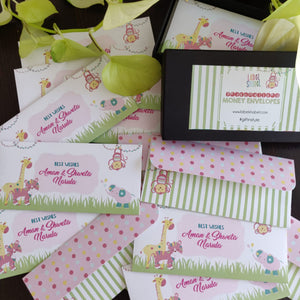 Money Envelopes for Kids - Party Animals Pink