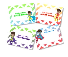 superhero personalised gift cards for boys