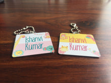 Bag Tags - Animal Safari Girls