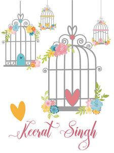 Ribbon Tags - Bird Cage