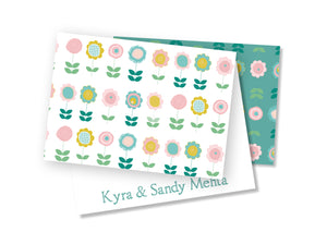Personalised Folded Card - Bloomin