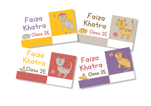 Book Labels - Kitty Love