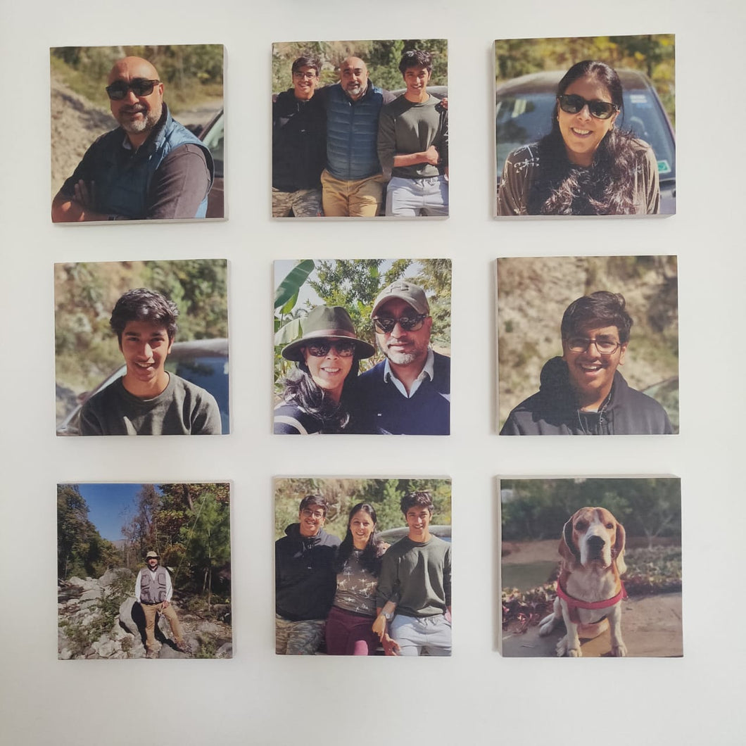 Canvas photo tiles label shabel