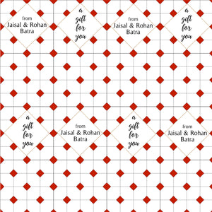 Personalised Wrapping Paper - Chequered