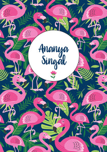 Personalised Note Book -  Flamingo