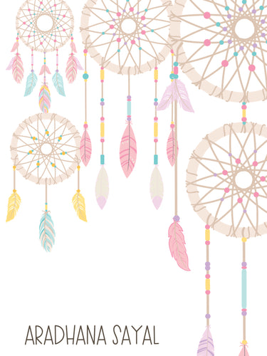 Ribbon Tags - Dream Catcher