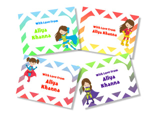 Wonder Woman personalised gift cards for girls