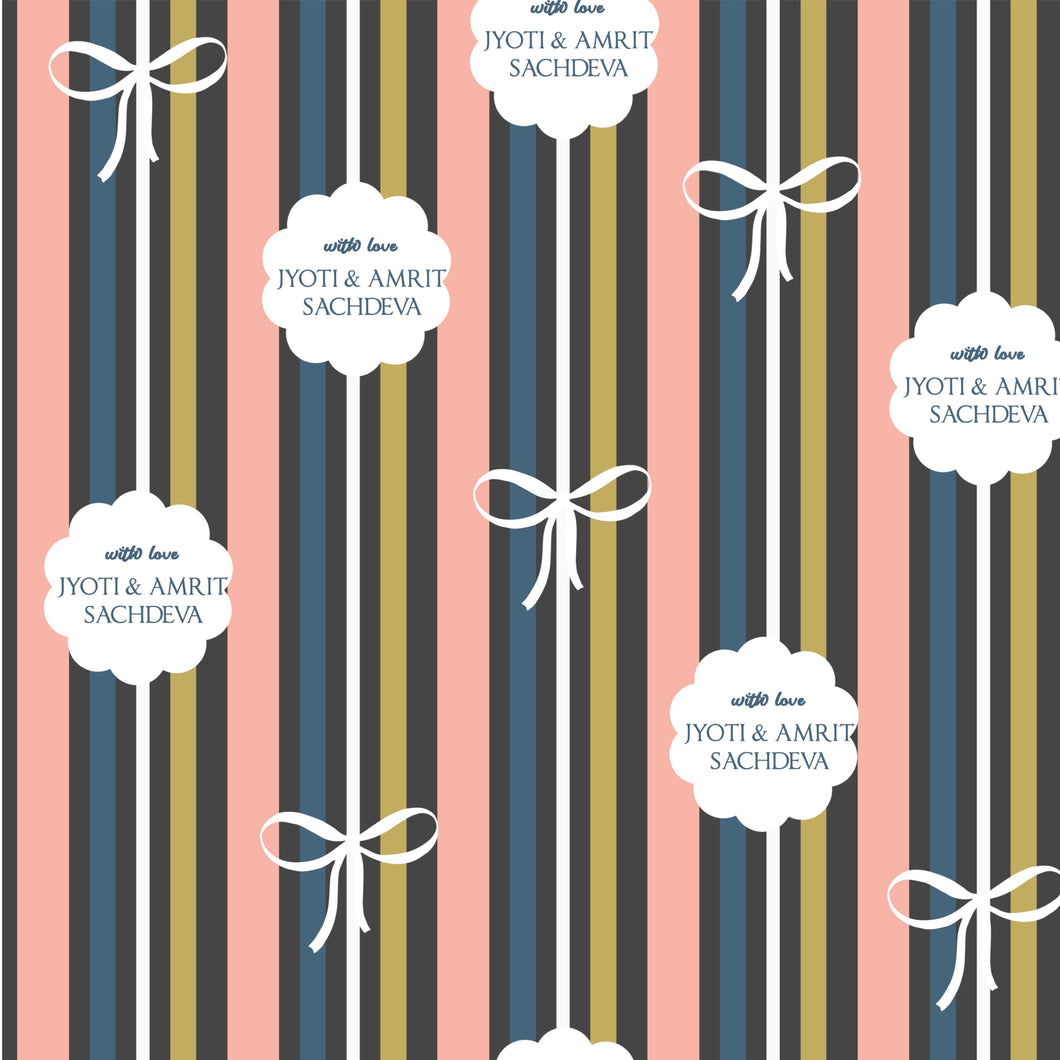 Personalised Wrapping Paper - In Line