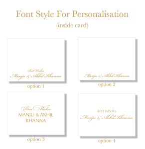 Aum - Personalised Fold Card Set