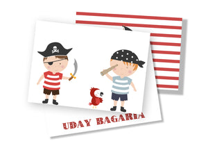 Personalised Folded Card - Pirates