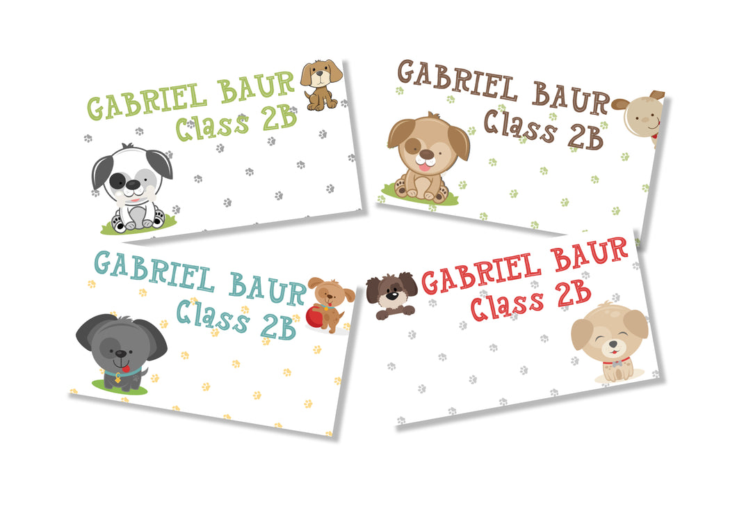 Book Labels- Puppy Love