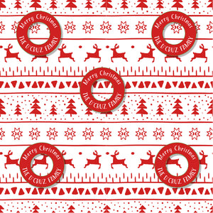 Personalised Wrapping Paper - Reindeer