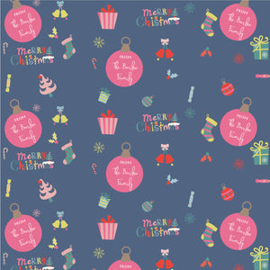 Personalised Wrapping Paper - Retro Xmas