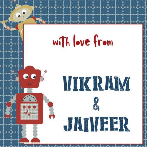Gift Labels - Robots