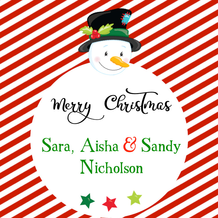 Gift Labels -Snowman