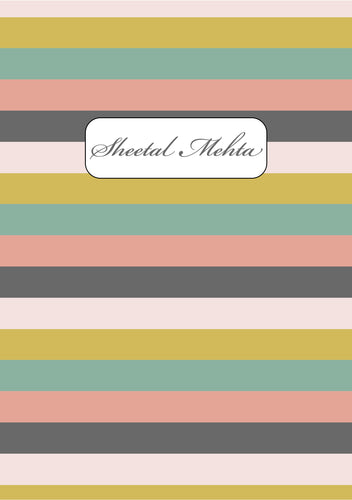 Personalised Note Book - Striped